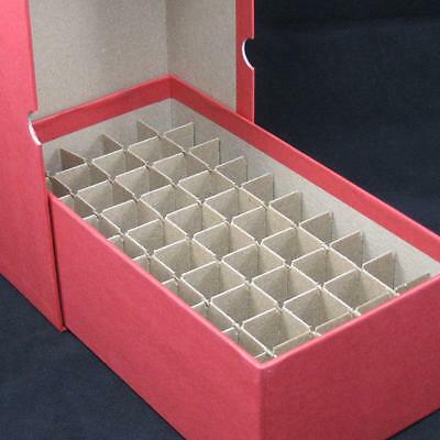 Round or Square Cent Penny Coin Tube Storage Box holds 50 Tubes