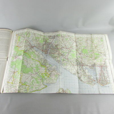 UK England 1968 VTG OS Ordnance Survey one-inch map 180 The Solent 3