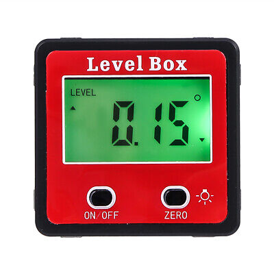 Digital LCD Protractor Gauge Angle Finder Bevel Level Box Inclinometer Meter US 8