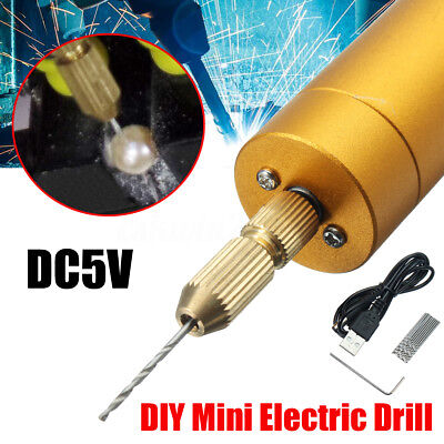Hand & Power Tool Accessories 1pc Dc 5v Diy Mini Micro Small Electric Aluminum Hand Drill For Motor Pcb High Quality