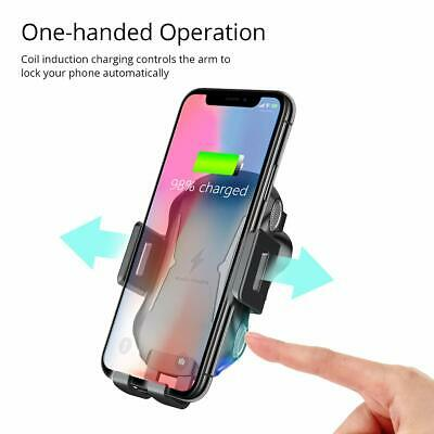 Automatic Clamping Qi Wireless Car Charging Charger Mount Air Vent Phone Holder 6
