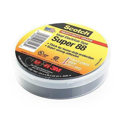 10 ROLLS 3M Scotch Vinyl Electrical Tape Super-88, 3/4 in x 66 ft 22 yd