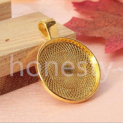 5 ~ 20pcs beauté Cabochon pendentif alliage Base support a bijoux paramètres 4