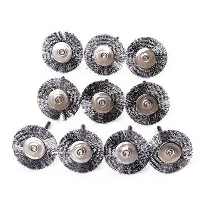 Stainless Steel Wire Wheel Brush Disc for Grinder Rotary Tool Polish Clean 10Pcs 2