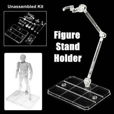 4X Action Figure Base Stand Display Holder Fit For HG RG SD SHF Gundam Mode