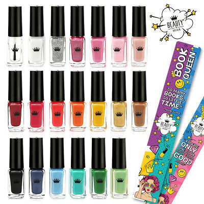 Set of 20 Nail Polish Varnish 20 Different Colours Luxury Box + 2 Bookmarks UK 3