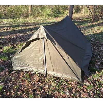 3 of 4 new French Army Issue Military Surplus C&ing 2 Man Pup Tent Shelter & NEW FRENCH Army Issue Military Surplus Camping 2 Man Pup Tent ...
