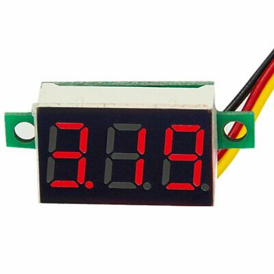 DC 0-100V Wires LED 3-Digital Mini Voltmeter Meter Display Voltage Panel Test 3
