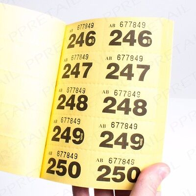 raffle cloakroom ticket books 1 2 5 10 pack tombola draw various
