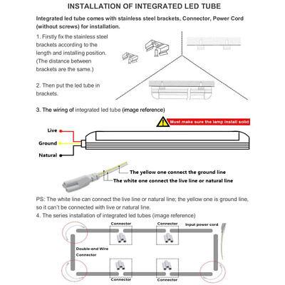 25-Pack JESLED 8FT LED Tube Light 72W 7800LM 6500K T8 Integrated LED Shop Lights 7