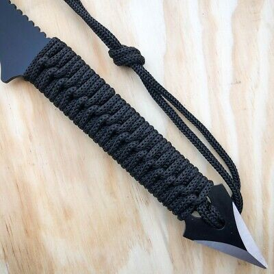"15"" Tactical Tomahawk Throwing Hatchet Axe Fixed Blade Survival Knife w/ Sheath 4"