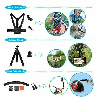 Accessories 216pcs Pack Case Chest Head Floating Monopod GoPro Hero 7 6 5 4 3+2 12