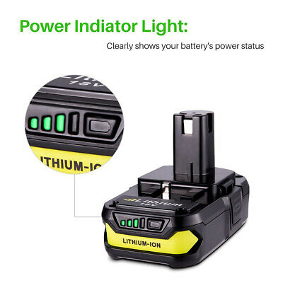 For Ryobi P107 One+ 18 Volt Compact Lithium 2500mAh Battery P106 P102 P105 P109 12
