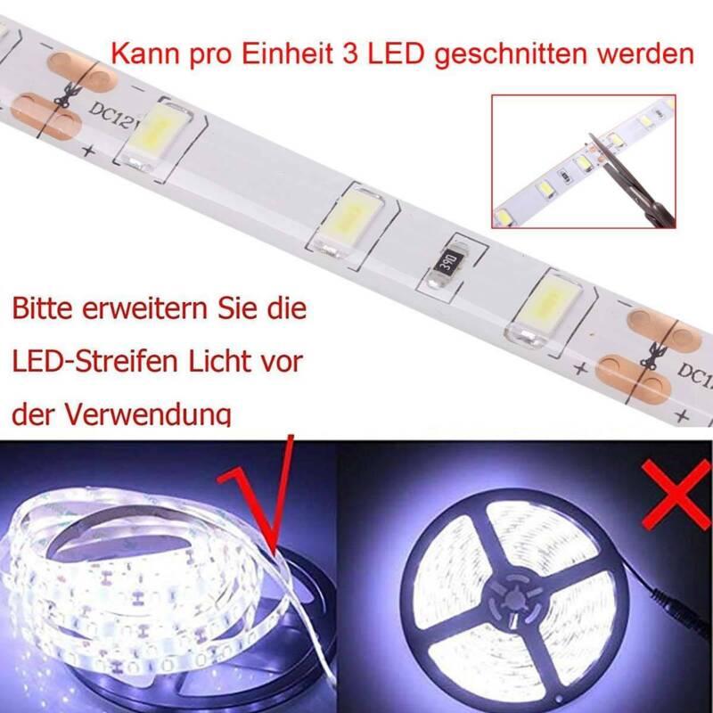 Leiste Strip Streifen Band Netzteil 5m 10m 15m 3528 SMD 60 LED warm weiß 12V
