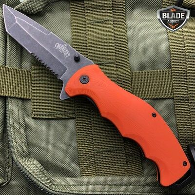 "8.5"" Military Tactical Spring Assisted Open Tanto Folding Blade Pocket Knife 9"