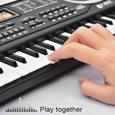Musical Keyboard Piano 61 Keys Electronic Electric Digital Beginner Kids Set 6