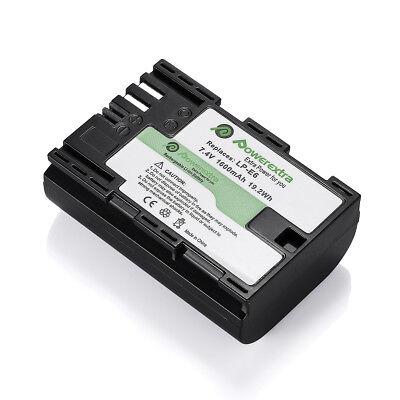 LP-E6 Battery + Dual Charger for Canon EOS 80D, 6D, 7D, 70D, 60D, 5D Mark II III
