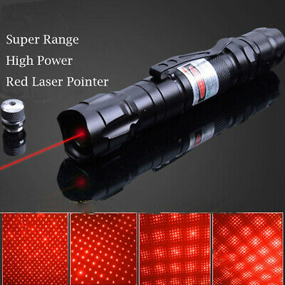 1MW 350Mile 650nm Visible Beam 2in1 Star Military Red Light Laser Pointer Pen AU 5