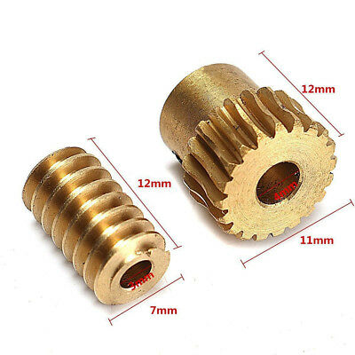 0.5 Modulus 1:10 Reduction Ratio 20Tooth Gear Motor Brass Copper Worm Wheel Gear 2