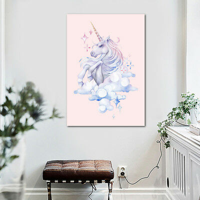 Modern Watercolor Unicorn/Deer/Horse Canvas Art Poster Prints Picture Home Decor 2