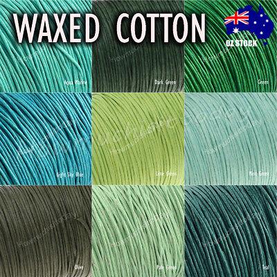 5m x1mm Waxed Cotton Thread Cord Beading Macrame String Bracelet Necklace DIY 3