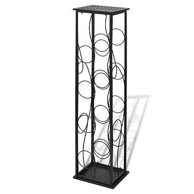 8 Metal Wine Bottle Holder Holding Collection Shelf Cabinet Cellar Storage Rack 2 • AUD 49.95