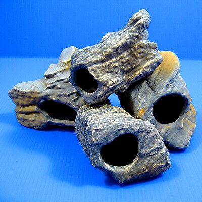 4pcs CICHLID STONE Céramique Aquarium Cave Rock Decor pour Tropical Fish Tank 5