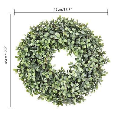 Pure Garden Preserved Boxwood Wreath Home Door Decor Greenery Wedding Event 4