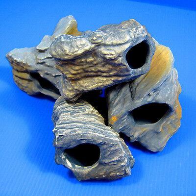 4pcs CICHLID STONE Céramique Aquarium Cave Rock Decor pour Tropical Fish Tank 10