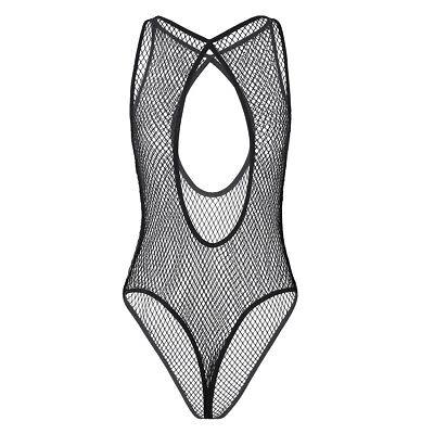 Sexy Damen Dessous Mesh Rückenfrei Bodysuit Teddy UnterwäSche Nachtwäsche String 6