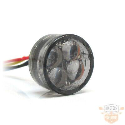 E-gepr/üft horizontale Montage zum Einbau get/öntes Glas SHIN YO Motorrad LED R/ücklicht CUBE-H mit 3 SMDs