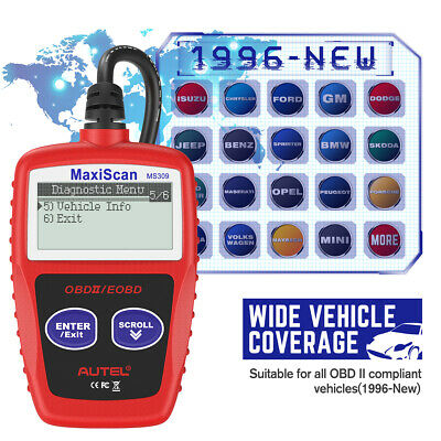 Autel MS309 OBD2 Check Engine Light Code Reader Auto Car Diagnostic Scanner Tool 10