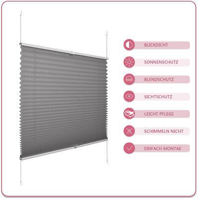 Plissee Jalousie Klemmfix für Fenster Faltstore Rollos ohne Bohren Sichtschutz 2