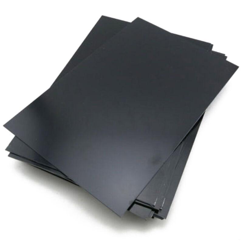 0.5mm Épaisse ABS Plastique Plaque Styrène Plat Feuille Noir Board Multi-Purpose 2