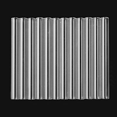 12X 100mm OD 10mm 2.2mm Thick Glass Blowing Tube Wall Borosilicate Transparent 2