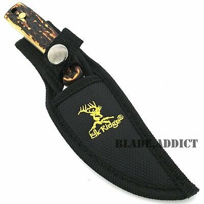 """7"""" STAG TACTICAL SURVIVAL Skinning KNIFE Hunting Skinner Camping Fixed Blade 4"""