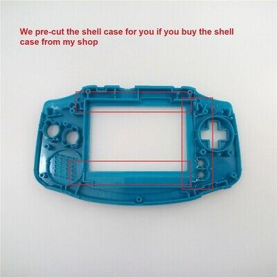 V2 IPS Backlight Backlit LCD For Game Boy Advance GBA and Pre-cut Shell Case 5