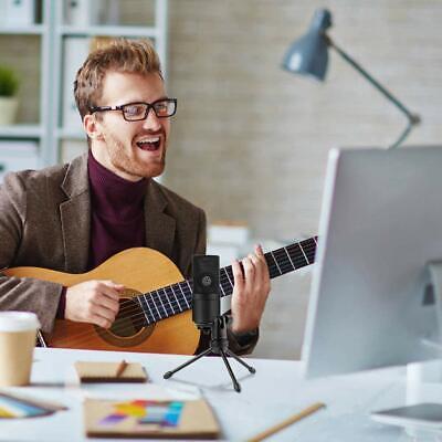 USB-Mikrofon Kondensatormikrofon für PC Laptop Aufnahmemikrofon Kardioid Studio 7