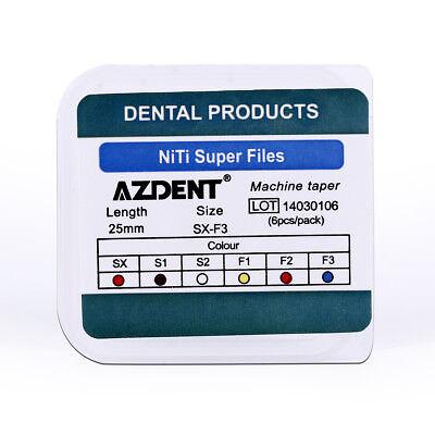 10X Dental 25mm Endodontic Engine Use NiTi Super Rotary Files AZDENT 7