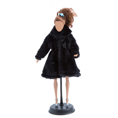 Handmade Fashion Winter Warm Overcoat Plush Fur Coat Clothes for Barbie Doll