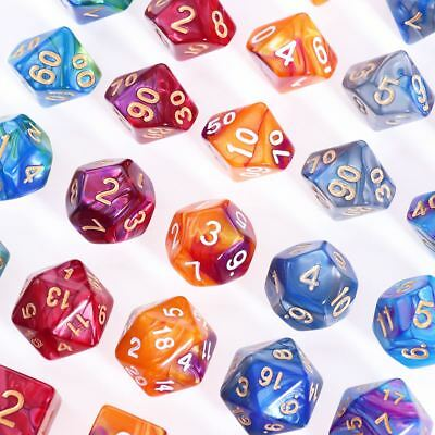42pcs Polyhedral Dice for Dungeons and Dragons DND RPG D20 D12 D10 D8 D6 D4 Game 6