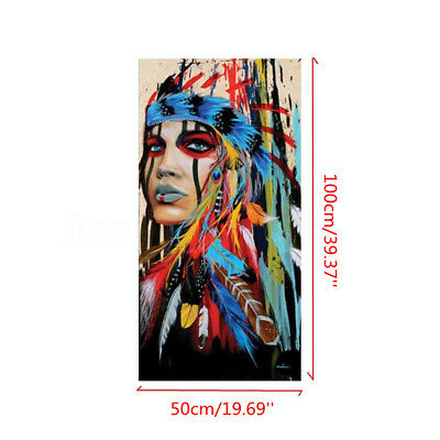 100x50cm Indian Woman Abstract Canvas Art Print Oil Painting Wall Home Decor 1 3