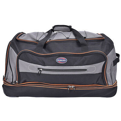 "30"" Drop Bottom Rolling Wheeled Duffel Bag Carry On Luggage Travel Suitcase 3"