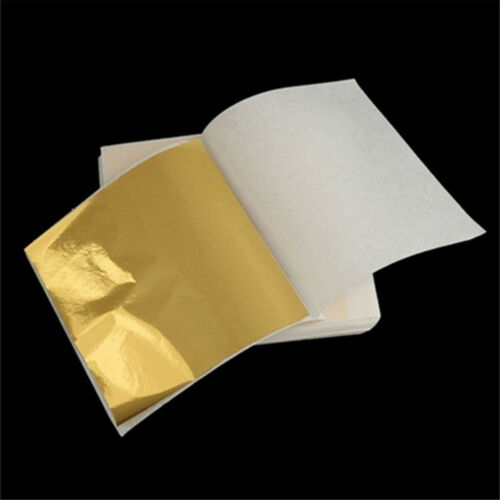 10pcs Pure 24K Edible Gold Leaf Sheets For Cooking Framing Art Craft Decorating 12