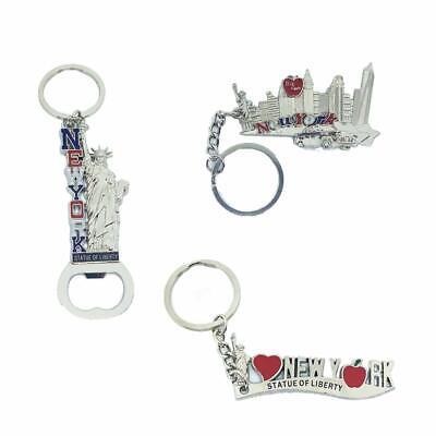 12 Pack New York City Silver Metal Keychains NYC  KeyRing Souvenir  Gift Set 3