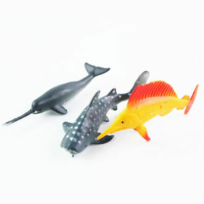 24X Plastic Ocean Animals Figure Sea Creatures Dolphin Turtle Whale Model Toys 7