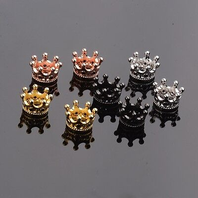 Zircon Gemstones Pave King Crown Leopard Head Bracelet Connector Charm Beads 10