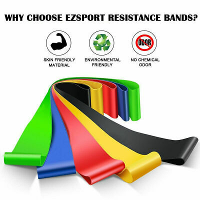 Workout Resistance Bands Loop Set CrossFit Fitness Yoga Booty Leg Exercise Band 8