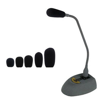 10pcs  Black Microphone Headset Foam Sponge Windscreen Mic Cover 6 Sizes 2