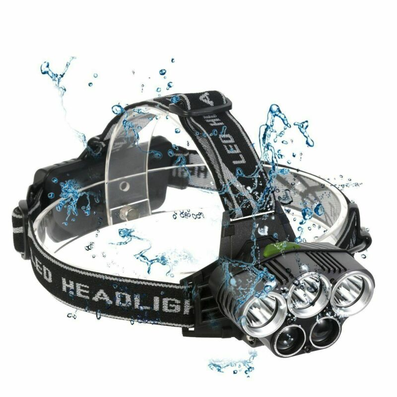 90000Lm 5X Xm-L T6 Led Headlamp Head Light Head Torch Flashlight Camping Lamp 4